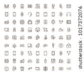device flat icon set . single... | Shutterstock .eps vector #1017372076