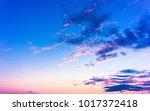 burning skies sunset in the sky  | Shutterstock . vector #1017372418