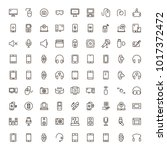 device flat icon set . single... | Shutterstock .eps vector #1017372472