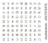 device flat icon set . single... | Shutterstock .eps vector #1017372472