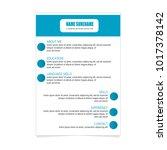 resume curriculum vitae... | Shutterstock .eps vector #1017378142