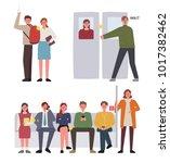 subway manner information... | Shutterstock .eps vector #1017382462