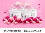 illustration of love and... | Shutterstock .eps vector #1017389185