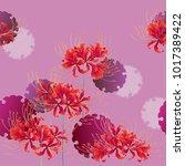 japanese style cluster... | Shutterstock .eps vector #1017389422