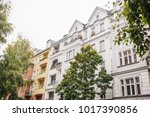 a typical apartment building in ... | Shutterstock . vector #1017390856