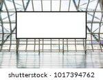 blank advertising billboard in... | Shutterstock . vector #1017394762