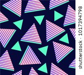 triangle abstract pattern.... | Shutterstock .eps vector #1017394798