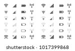 mobile phone system icons  wifi ... | Shutterstock .eps vector #1017399868