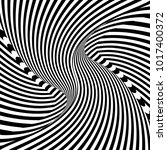 abstract op art pattern. lines... | Shutterstock .eps vector #1017400372