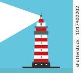 lighthouse  path lighting.... | Shutterstock .eps vector #1017402202