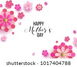 happy mother's day layout... | Shutterstock .eps vector #1017404788