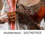 indian bride hands | Shutterstock . vector #1017407425