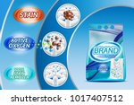 washing powder ad template... | Shutterstock .eps vector #1017407512