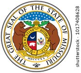 the great seal of the state of... | Shutterstock . vector #1017408628