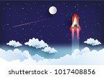 illustration of the shuttle.... | Shutterstock .eps vector #1017408856
