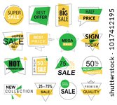 sale labels collection modern.... | Shutterstock . vector #1017412195