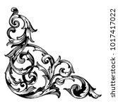 classical baroque vector of... | Shutterstock .eps vector #1017417022