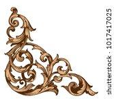 classical baroque vector of... | Shutterstock .eps vector #1017417025