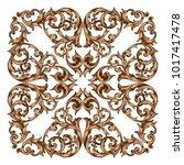 classical baroque vector of...   Shutterstock .eps vector #1017417478