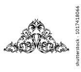 classical baroque vector of... | Shutterstock .eps vector #1017418066