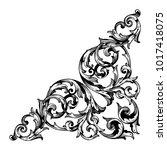classical baroque vector of... | Shutterstock .eps vector #1017418075