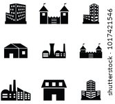 building icon set | Shutterstock .eps vector #1017421546