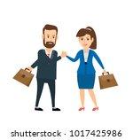 businessman against...   Shutterstock .eps vector #1017425986