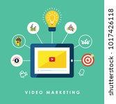 business on line video...   Shutterstock .eps vector #1017426118