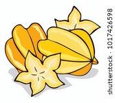 isolate ripe starfruit or... | Shutterstock .eps vector #1017426598