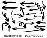 grunge hand drawn vector arrows.... | Shutterstock .eps vector #1017430222