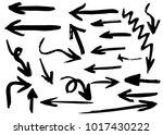 grunge hand drawn vector arrows.... | Shutterstock .eps vector #1017430222