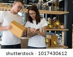 startup small business owner... | Shutterstock . vector #1017430612