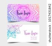 true love. yoga studio card... | Shutterstock .eps vector #1017431842