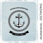 maritime symbols logo   anchor... | Shutterstock .eps vector #1017442942