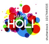 illustration of colorful happy... | Shutterstock .eps vector #1017444535