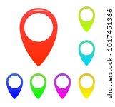 map marker  map pin vector. map ... | Shutterstock .eps vector #1017451366