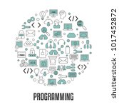 coding and programming concept. ... | Shutterstock .eps vector #1017452872