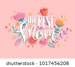 the best mom with handdrawn... | Shutterstock .eps vector #1017456208