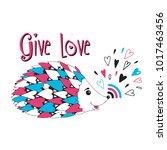 give love. vector illustration. | Shutterstock .eps vector #1017463456