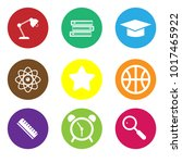 education circle set vector | Shutterstock .eps vector #1017465922