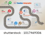 business road map timeline... | Shutterstock .eps vector #1017469306