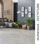 modern living room blue details ... | Shutterstock . vector #1017471286