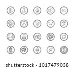 20 most popular cryptocurrency... | Shutterstock .eps vector #1017479038