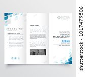simple trifold business... | Shutterstock .eps vector #1017479506