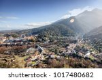 corte  a city in the mountains  ... | Shutterstock . vector #1017480682
