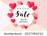 valentines day sale  discont... | Shutterstock .eps vector #1017494212