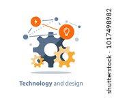 innovative technology  design... | Shutterstock .eps vector #1017498982