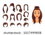 vector cartoon style... | Shutterstock .eps vector #1017499858
