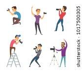 photographers make photos. set...   Shutterstock .eps vector #1017500305