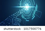 abstract hand wireframe digital ... | Shutterstock .eps vector #1017500776